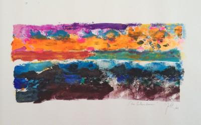 Die Ertrunkenen, 84,10 x 59,40 cm, Mischtechnik auf Papier