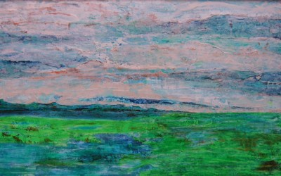 Grüner Sand / rechte Seite, 174 x 54,50 cm, Öl auf Holz