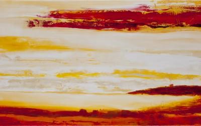 Keine Worte sagen alles, 200 x 100 cm, Öl auf Leinwand