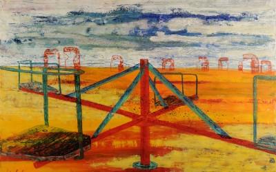 Knieptänzer, 140 x 100 cm, Öl auf Leinwand