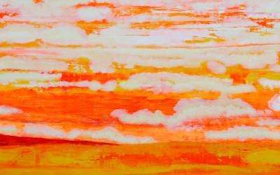 Meerleuchten, 200 x 100 cm, Öl und Pigment auf Holz