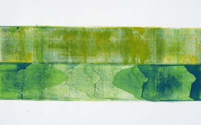 Grüner Sand I, 84,10 x 59,40 cm, Mischtechnik auf Papier