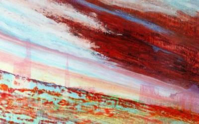 Rungholt, 140 x 100 cm, Öl und Pigmente auf Holz