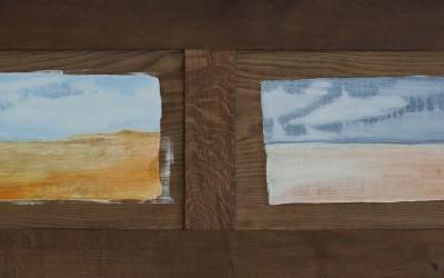 Sturm legt Wolken davor I, 174  x 54,50 cm, Öl auf Holz