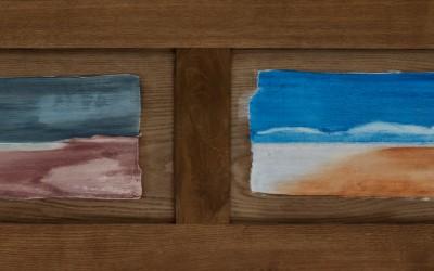 Sturm legt Wolken davor II, 174  x  54,50 cm, Öl auf Holz