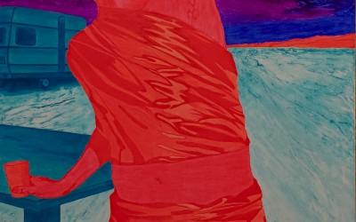 Purple Rain, 100 x 140 cm, Öl auf Leinwand