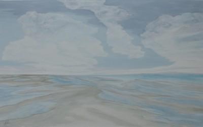 Wolkenmeer, 200 x 120 cm, Öl auf Leinwand